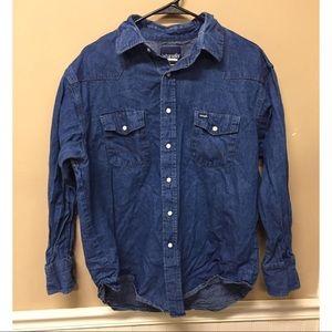 Wrangler Western Denim Pearl Snap Shirt